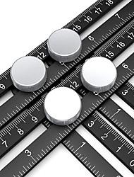 cheap -Aluminum Alloy Four-sided Ruler Multi-function Multi-angle Folding Ruler