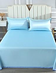 cheap -Summer mat ice silk mat three piece wash sheet folding air conditioner mat with ice silk pillow case