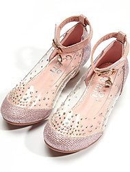 cheap -Girls' Sandals Dress Shoes Heel Princess Shoes Synthetics Lace up Big Kids(7years +) Flower Event / Party Daily Walking Shoes Chain Pink Silver Gold Spring / Booties / Ankle Boots / Rubber