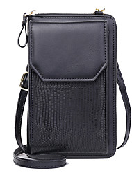 cheap -Women's Bags PU Leather Mobile Phone Bag Zipper Stripes Daily Outdoor 2021 Blue Blushing Pink Black