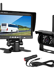 cheap -PZ608 LCD Digital Screen Wireless Car Reversing Monitor / Reversing Radar Kit Waterproof / 360° monitoring for Car