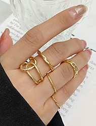cheap -Midi Rings Crossover Gold Alloy Stylish Simple Punk 5pcs One Size / Women's