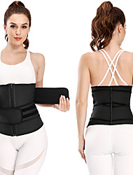 cheap -Double-belt Sport Shapewear Corset Large Size Latex Sweating Vest Postpartum Plastic Belt Velcro Zipper Belly Belt