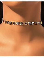 cheap -alloy color rhinestone short necklace choker fashion ladies necklace