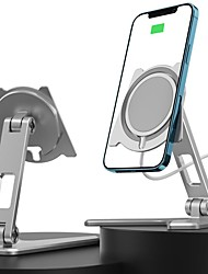 cheap -Phone Holder Stand Mount Desk Phone Holder Phone Desk Stand Phone Charging Stand Magnetic Phone Holder Silicone Aluminum Alloy Phone Accessory iPhone 12 11 Pro Xs Xs Max Xr X 8 Samsung Glaxy S21 S20