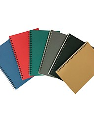 cheap -Kraft Paper Coil notebook back to school office 16K Workbooks Notepad Retro Car Line Writing Pads Diarybook 14*21cm 1pcs