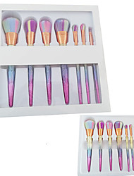 cheap -7 Professional Makeup Brushes Set 3d Diamond Handle Cosmetics With Carton