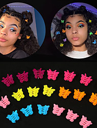 cheap -50 Pcs/set Mixed Color Butterfly Hair Clips Grip Claw Barrettes Mini Clamps Pine Hairpin Headdress Hair Styling Accessory Tool
