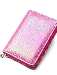 cheap -Women's Bags PU Leather Polyester Coin Purse Zipper Mesh Daily Outdoor 2021 Purple Blushing Pink