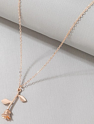 cheap -Women's Necklace Classic Flower Artistic Romantic Classic Hip Hop Alloy Rose Gold 45 cm Necklace Jewelry 1pc For Birthday Party Festival