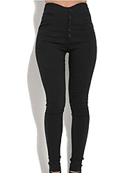 cheap -Women's Basic Streetwear Comfort Leggings Cotton Slim Daily Weekend Pants Plain Full Length Pocket High Waist Army Green Black Brown