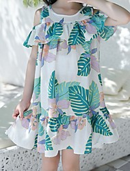 cheap -Kids Little Girls' Dress Floral / Botanical White Dresses