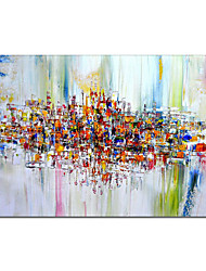 cheap -Oil Painting Handmade Hand Painted Wall Art Modern Abstract Colorful Texture Home Decoration Decor Rolled Canvas No Frame Unstretched