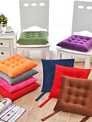 cheap -Seat Cushion Super Soft Crystal Velvet Solid Color Chair Cushion Home Office Seat Bar Dining Chair Seat Pads Garden Floor Cushion