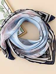 cheap -Women's Square Scarf Party Multi-color Scarf Floral / Chiffon / Fall / Spring