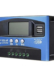 cheap -MPPT Solar Charge Controller 12V 24V Solar Power Regulator Dual USB Auto LCD Display Discharger PWM 100A