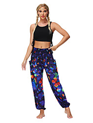 cheap -Women's Yoga Pants Side Pockets Harem Bloomers Bottoms Quick Dry Bohemian Amethyst Yoga Fitness Gym Workout Summer Sports Activewear / Casual / Athleisure