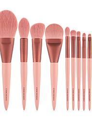 cheap -Professional 10 Pcs Makeup Brushes Set Small Grape Solid Wood Handle Animal Hair Blush Foundation Concealer Eyeshadow Powder Powder Makeup Brush