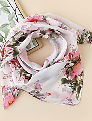 cheap -Women's Square Scarf Party Multi-color Scarf Floral