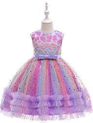 cheap -Kids Little Girls' Dress Floral / Botanical Blue Purple Blushing Pink Dresses Baby
