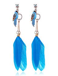 cheap -Women's Earrings Stylish Modern Feather Earrings Jewelry Blue / Red For Street Date