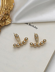 cheap -wang ziwen's same s925 cold wind round bead earrings 2021 new niche design earrings, high-end and exquisite