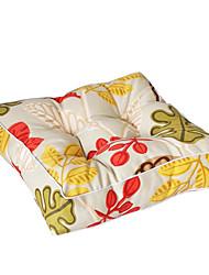 cheap -Cotton Canvas Seat Cushion Refreshing Flowers Chair Cushion Home Office Seat Bar Dining Chair Seat Pads Garden Floor Cushion