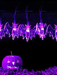 cheap -LED Halloween String Lights 3M 20LEDs String Lights Bat Shaped Fairy String Lights Battery Operated Garden Home Party Halloween Decoration