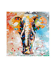 cheap -Oil Painting Handmade Hand Painted Wall Art Modern Elephant Picture Abstract Home Decoration Decor Rolled Canvas No Frame Unstretched