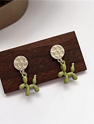 cheap -s925 silver needle childlike cute green deer earrings korean temperament simple girl small earrings e41