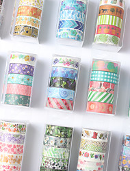 cheap -5 Rolls Washi Tape Set Halloween decoration Leaves Floral Tree Washi Tape Colorful Journal DIY Decorative Painters Tape for Craft Kids Scrapbook Bullet