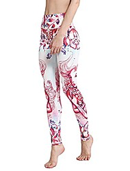 cheap -constellation print women long yoga pants sports leggings running tights stretch trousers, cancer xl