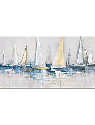 cheap -Oil Painting Hand Painted Wall Art Abstract Maritime Sailboat Landscape Living Room Home Decoration Decor Rolled Canvas No Frame Unstretched