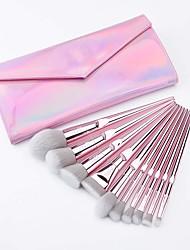cheap -MSQ 10 Pcs Pink Synthetic Hair Makeup Brushes With Eyeshadow Powder Blush Lip Brush