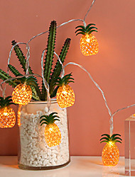 cheap -Pineapple Shaped Fairy LED String Lights 6M 3M 1.5M Battery or USB Operation Christmas Wedding Holiday Garden Patio Decoration