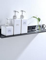 cheap -Bathroom Storage Bracket,Space Aluminum Black Bathroom Shelves Kitchen Wall Shelf Shower Storage Rack 30-50cm