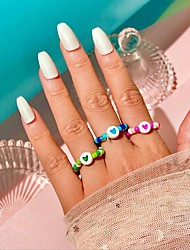 cheap -Ring Beads Blue Blushing Pink Green Imitation Pearl Resin Heart Stylish Ethnic Colorful 1pc 10 / Women's