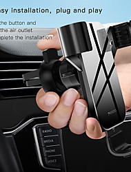 cheap -Phone Holder Stand Mount Car Car Holder Phone Holder Buckle Type Gravity Type Adjustable Silicone Aluminum Alloy ABS Phone Accessory iPhone 12 11 Pro Xs Xs Max Xr X 8 Samsung Glaxy S21 S20 Note20