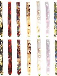 cheap -14 Pcs Hair Clips Bobby Pins Acetate Barrettes Hair Accessories Fashion Geometric Bobby Hair Clips 7 Design