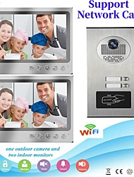 cheap -Multi Apartment Connect Two Indoor Monitors 9inch Large Screen Video Door Phone with 2 Way Intercom System Support Remote Control