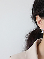 cheap -korean version of 925 silver needle earrings female ins irregular concave-convex surface geometric round female simple temperament bungee earrings