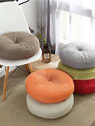 cheap -Solid Color Four Seasons Thick Chair Cushion Cotton Crafts Tatami Cushion Student Dormitory Office Breathable Seat Cushion Outdoor Faux Linen Cushion for Sofa Couch Bed Chair
