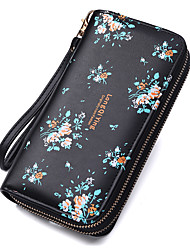 cheap -Women's Bags PU Leather Polyester Mobile Phone Bag Zipper Flower Floral Print Printing Daily Outdoor Floral 2021 Blue Blushing Pink Black