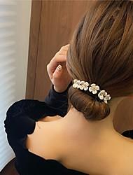cheap -korean version of anti-slip lazy flower coil hairpin hairpin super xianzha half ball head artifact simple new pearl braided hair