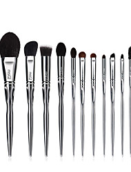 cheap -MSQ Professional 11pcs Powder Makeup Brushes Set Classic Eye Shadow Lip Foundation Makeup Brushes Goat / Horse Hair PVC Handle