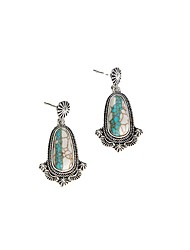 cheap -accessories retro two-tone turquoise stud earrings fashion light luxury bohemian earrings
