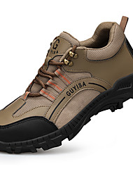 cheap -Unisex Safety Shoe Boots Sporty Classic Chinoiserie Office & Career Safety Shoes Leather Breathable Non-slipping Wear Proof Dark Brown Black Summer