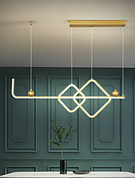 cheap -LED Pendant Light 90 cm Geometric Shapes Pendant Light Metal Painted Finishes LED Modern 220-240V