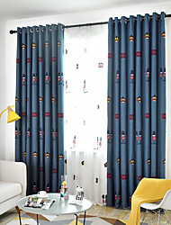 cheap -Window Curtain Window Treatments Blue 2 Panels Room Darkening for Living Room Bedroom
