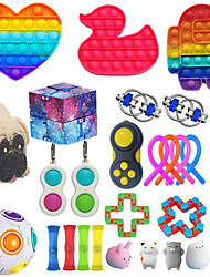 cheap -30PCS Sensory Toys Set for Adults Kids ADHD ADD Anxiety Autism to Stress Relief and Anti-anxiety with Push Pop Squishy Stretchy Strings Squeeze Balls Perfect for Classroom Reward